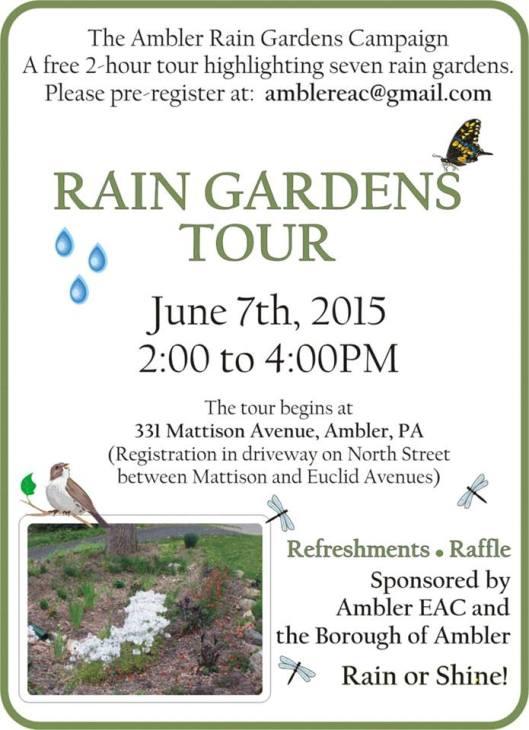 rain garden tour flyer