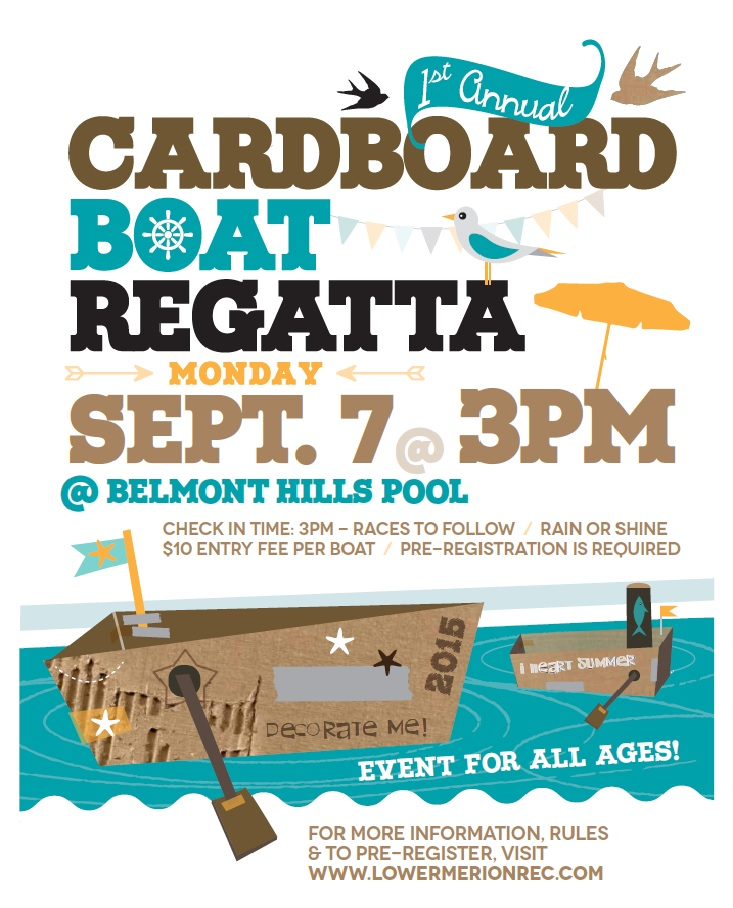 Sept 7th – Lower Merion Township – 1st Annual Cardboard Boat