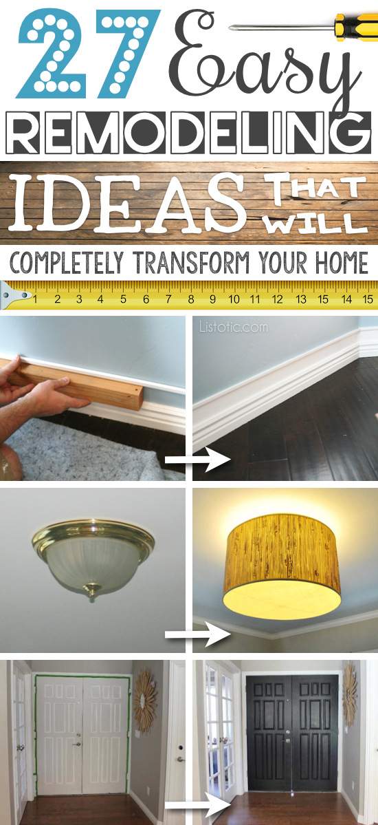 27 easy remodeling ideas that will completely transform Home improvement ideas