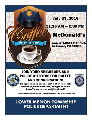 coffee and conversation  with a cop