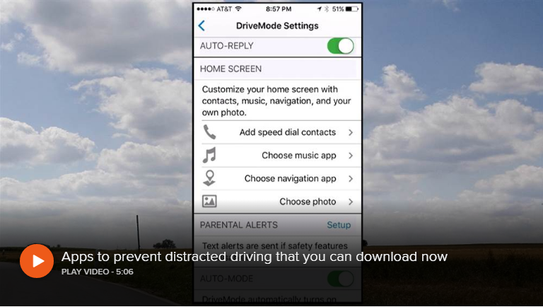 app for distracted driving